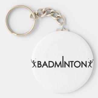 icono del texto del jugador del bádminton llavero redondo tipo pin