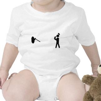 icono del tiroteo del hacha traje de bebé