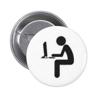 Icono del usuario del ordenador pin redondo de 2 pulgadas