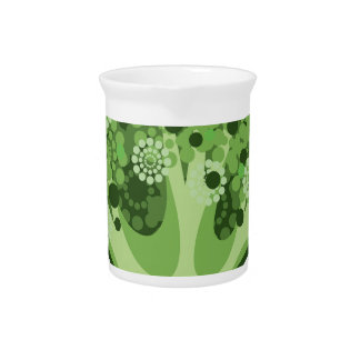 Icono del vector del bróculi jarra de beber