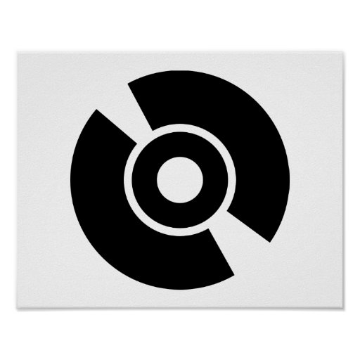 Icono del vinilo del disco impresiones