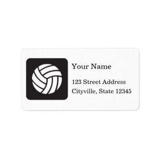 Icono del voleibol etiqueta de dirección
