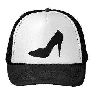 icono del zapato de tacón alto del estilete gorras de camionero