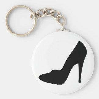 icono del zapato de tacón alto del estilete llavero redondo tipo pin