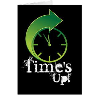Icono delantero del tiempo de la flecha del reloj tarjeta de felicitación
