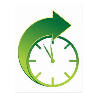 Icono delantero del tiempo de la flecha del reloj postal