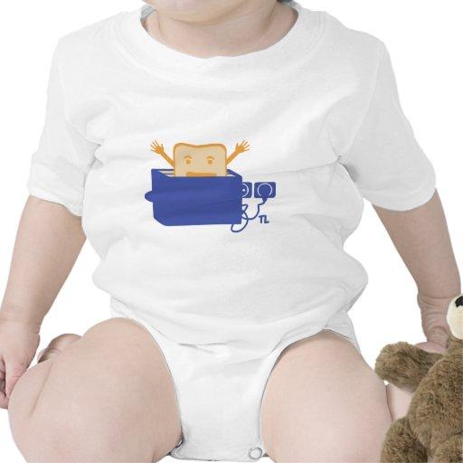 icono divertido de la tostadora trajes de bebé