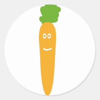 icono divertido de la zanahoria etiqueta
