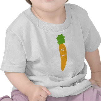 icono divertido de la zanahoria camisetas