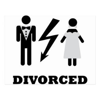 icono divorciado tarjeta postal
