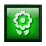 Icono ecológico del verde del icono de Giftbox Caja De Regalo