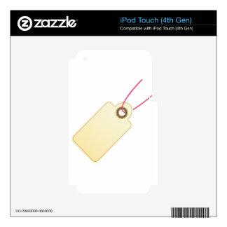 Icono en blanco del precio skins para iPod touch 4G