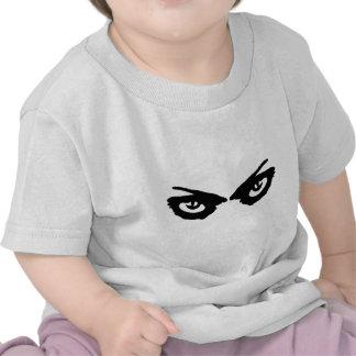 icono enojado de los ojos camisetas