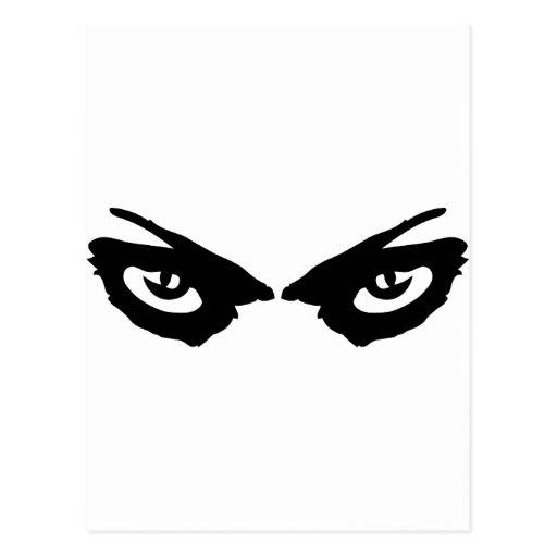 icono enojado de los ojos tarjeta postal