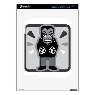 Icono enojado del hombre iPad 3 pegatina skin