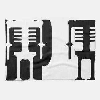Icono esquelético simplista toallas de mano
