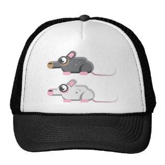 Icono estilizado del vector del ratón gorro de camionero