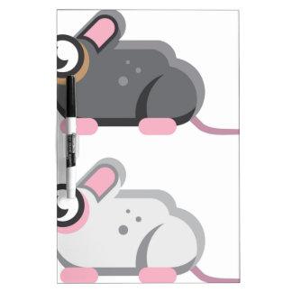 Icono estilizado del vector del ratón pizarra