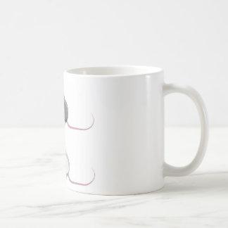Icono estilizado del vector del ratón taza de café