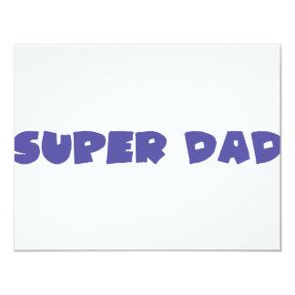 """icono estupendo azul del papá invitación 4.25"""" x 5.5"""""""
