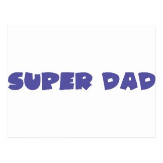 icono estupendo azul del papá tarjetas postales
