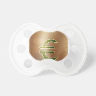 Icono euro del bolso del dinero de la moneda chupetes para bebes
