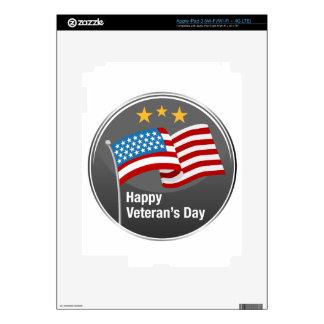Icono feliz del día de veteranos iPad 3 pegatinas skins
