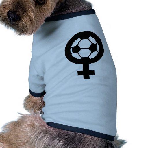 icono femal de las mujeres del fútbol ropa perro