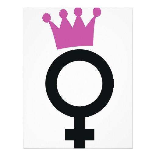 "icono femenino folleto 8.5"" x 11"""