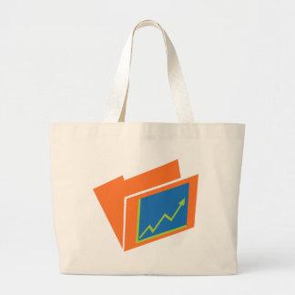 Icono financiero de la carpeta del documento del bolsa tela grande