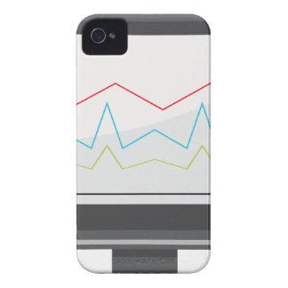 Icono financiero del informe del monitor de carcasa para iPhone 4 de Case-Mate