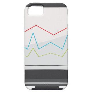 Icono financiero del informe del monitor de funda para iPhone SE/5/5s