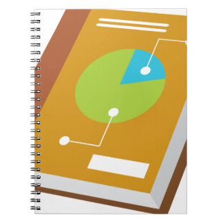 Icono financiero del libro libro de apuntes con espiral