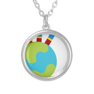 Icono global del crecimiento colgante redondo