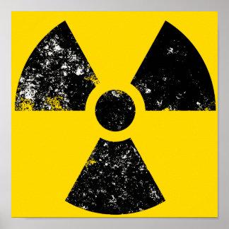 icono grande de la radiación póster