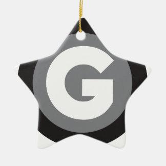 Icono grayscale.png de Galano Adorno Navideño De Cerámica En Forma De Estrella