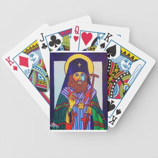Icono griego baraja cartas de poker