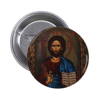 ICONO griego CRISTO Pin Redondo De 2 Pulgadas