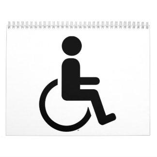 Icono handicaped silla de ruedas calendario de pared