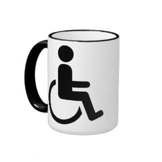 Icono handicaped silla de ruedas taza de café
