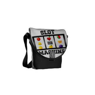 Icono inclinado máquina tragaperras bolsa de mensajería
