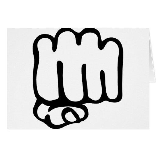 icono izquierdo del puño felicitación
