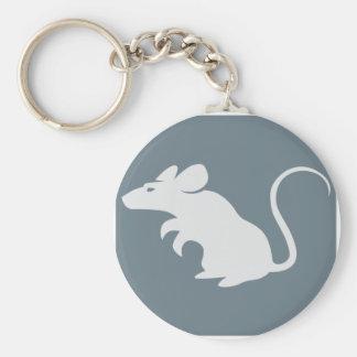 Icono juguetón de la rata llavero redondo tipo pin
