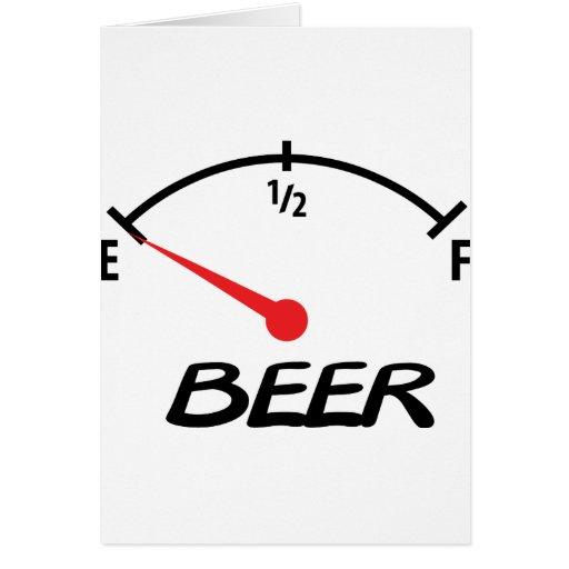 icono llano de la cerveza tarjetas