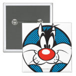 Icono manchado de SYLVESTER™ Pin Cuadrado
