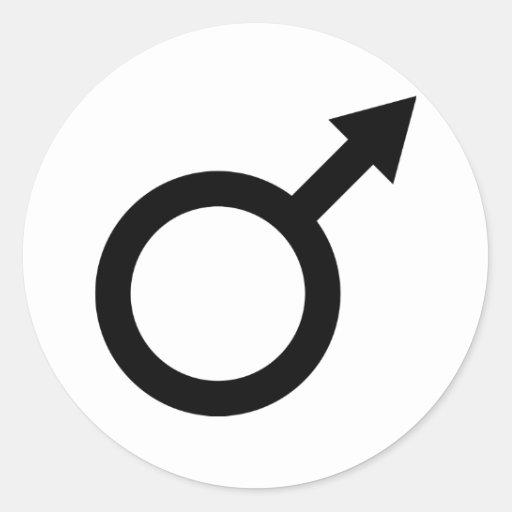 icono masculino de la muestra del hombre negro etiquetas redondas