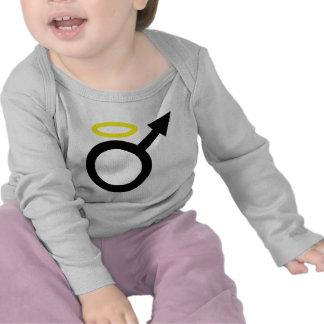 icono masculino del ángel camisetas