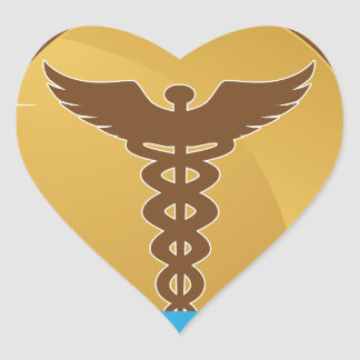 Icono médico de la insignia de la cinta de la pegatina en forma de corazón
