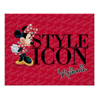 Icono Minnie del estilo Posters