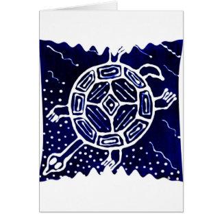 Icono mítico africano, tortuga tarjeta de felicitación